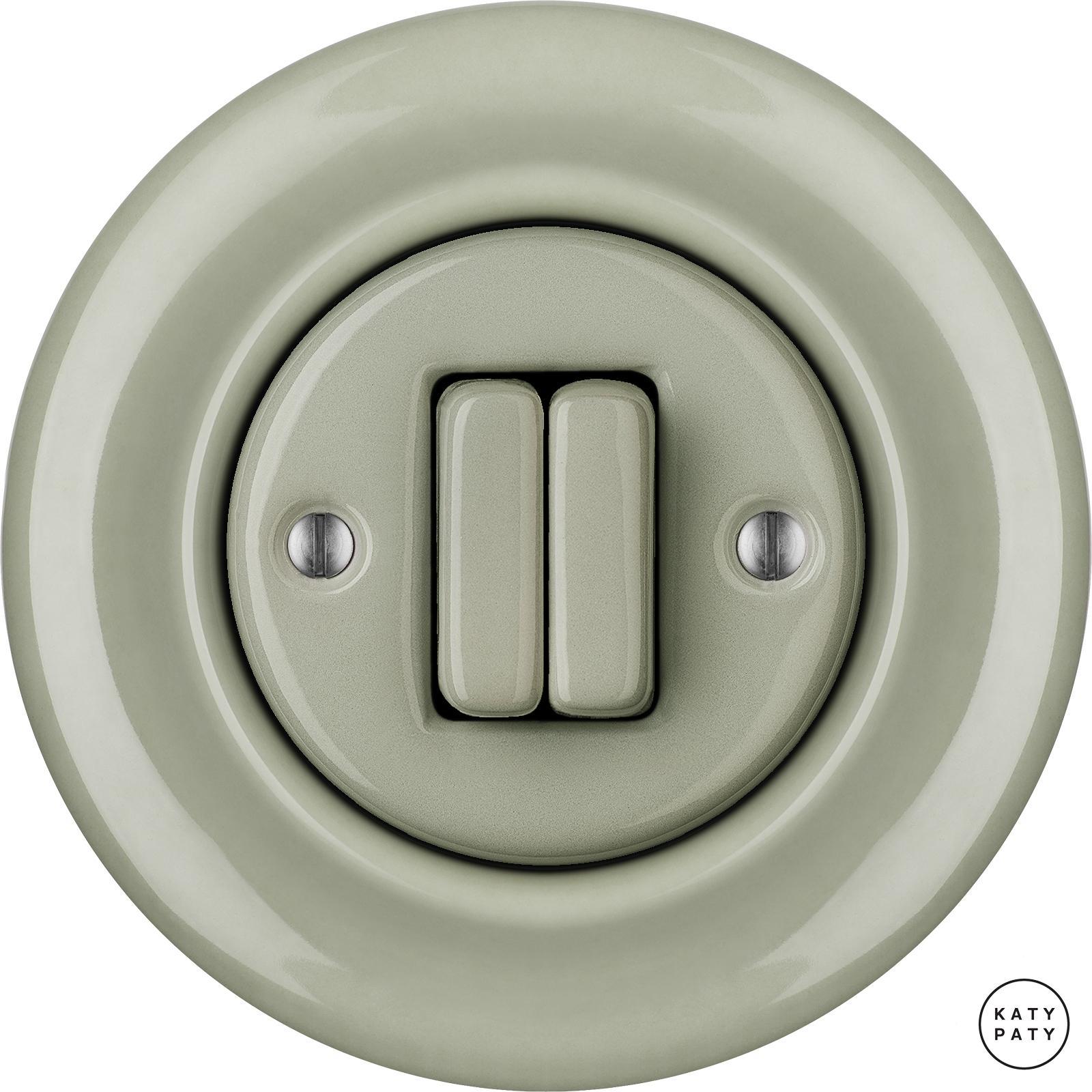 roo interrupteur en porcelaine clapet double chlora. Black Bedroom Furniture Sets. Home Design Ideas
